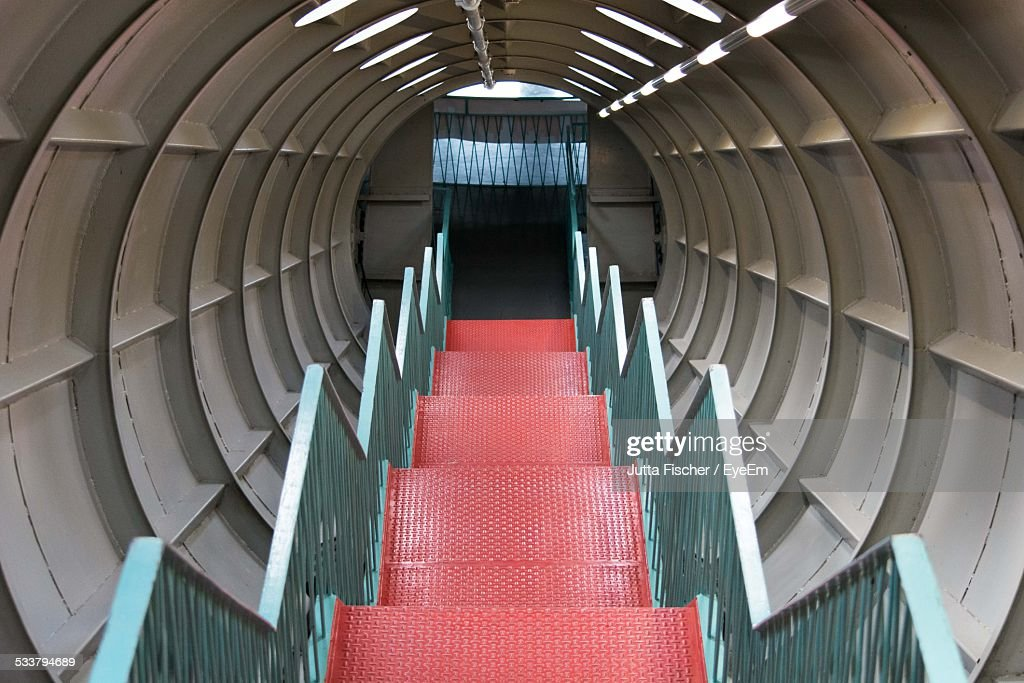 Staircase Leading To Closed Gate : Foto stock