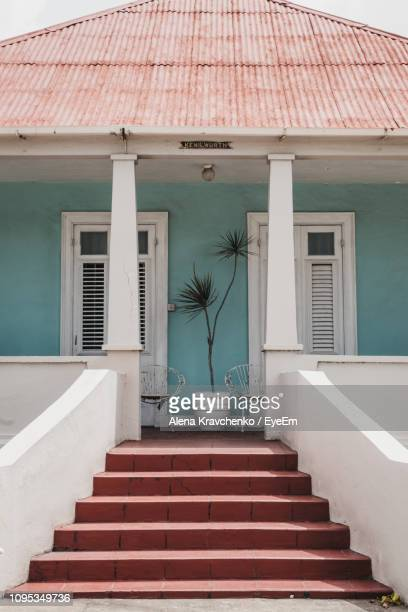 staircase leading towards house - bridgetown barbados stock photos and pictures