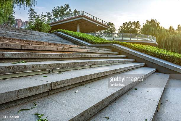Staircase Leading Towards modern buildings