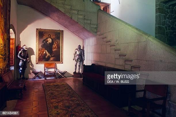 Staircase Mendoza Castle Manzanares el Real Madrid Spain 15th century