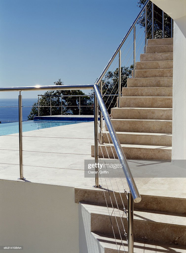 staircase near the beach : Stock Photo