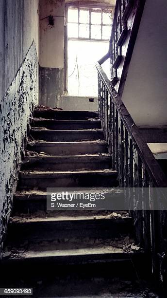 Staircase Of Abandoned Home