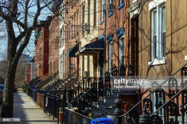 staircase of old building in city - hoboken stock pictures, royalty-free photos & images