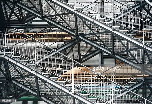 staircase - centre georges pompidou stock pictures, royalty-free photos & images