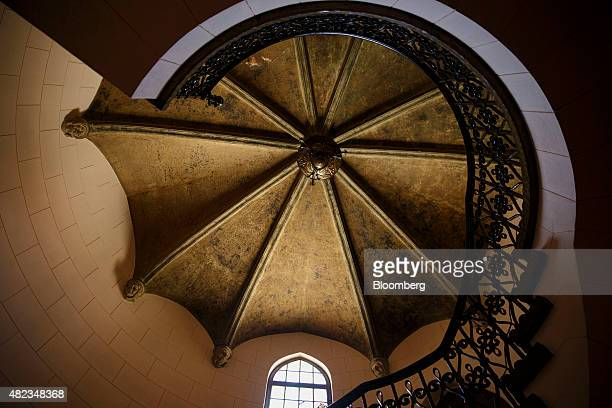 A staircase stands inside the former home of Sisters of the Most Holy and Immaculate Heart of the Blessed Virgin Mary on Waverly Drive in the Los...