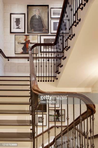 Staircase view. Hackett - Sloane Street, London, United Kingdom. Architect: n.a, 2013..