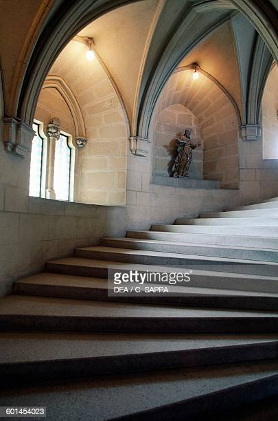 Staircase with arched crossvault ceilings Bojnice castle Slovakia 12th19th century