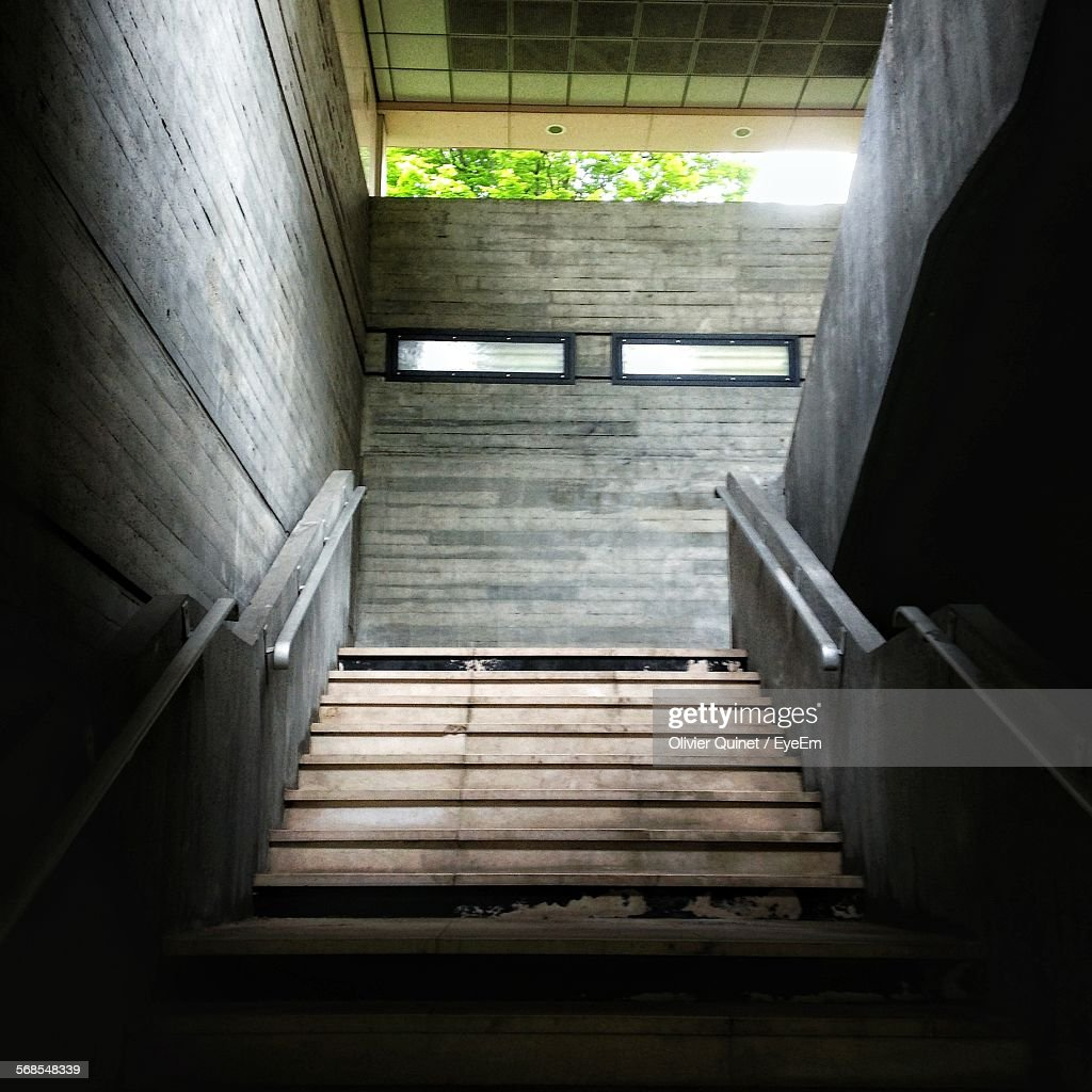 Staircase With Brick Wall : Stock Photo