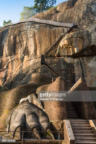 Staircase with Lion's paw on Sigiriya Rock, Near Dambulla, Sri Lanka