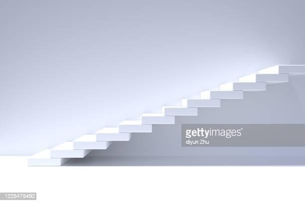 staircase,3d render - degraus imagens e fotografias de stock