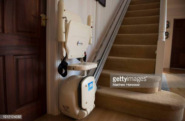 A stairlift seen in a property on January 1 2017 in Cardiff United Kingdom