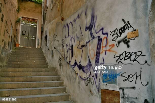 stairs and walls in acireale. #5231 - acireale stock-fotos und bilder