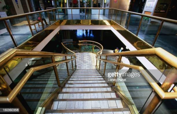 Stairs at Kabuki Theatre in Japan town.