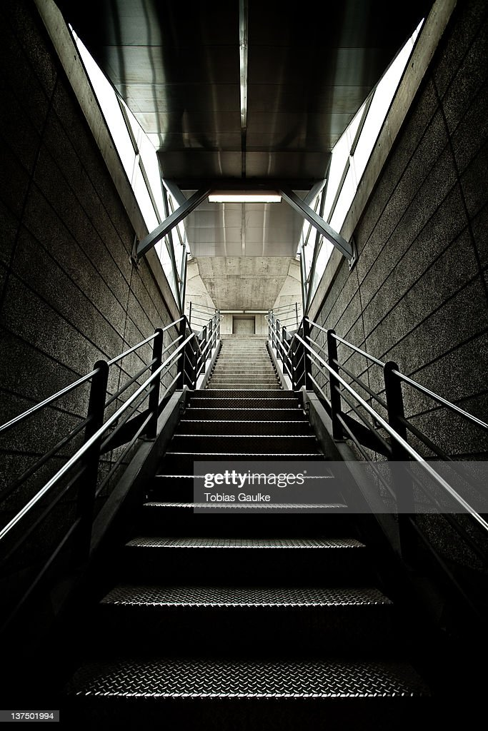 Stairs from Zurich subway : Stock-Foto