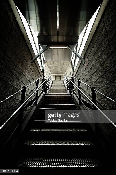 stairs from zurich subway - tobias gaulke stock-fotos und bilder