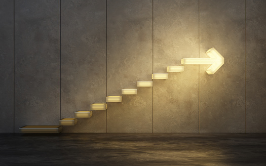 stairs going  upward 1067152872
