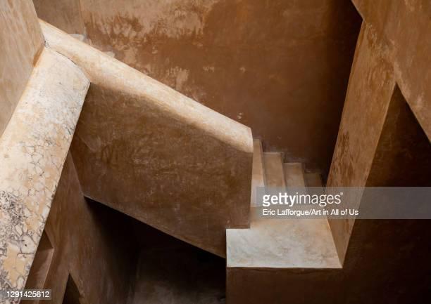 Stairs in a swahili house, Lamu County, Lamu, Kenya on March 2, 2011 in Lamu, Kenya.