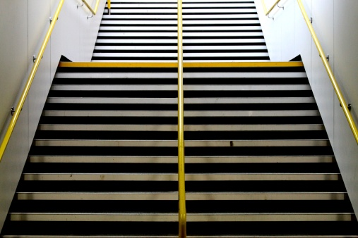 Stairs in a Taunton train station - gettyimageskorea