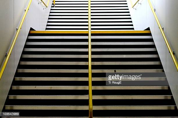 stairs in a taunton train station - steps stock photos and pictures