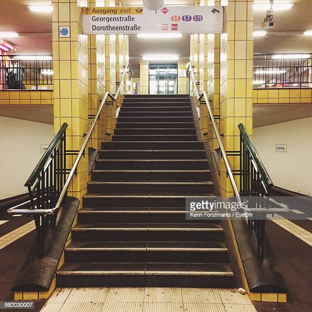 Stairs In Subway Station