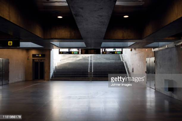 stairs in underground tunnel - malmo stock pictures, royalty-free photos & images
