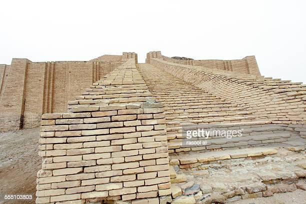stairs in ziggurat of ur - ziggurat stock photos and pictures