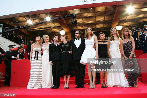 Stairs 'Le scaphandre et la papillon' at the 60th Cannes International Film Festival In Cannes France On May 22 2007 Anne Consigny Emmanuelle Seigner...