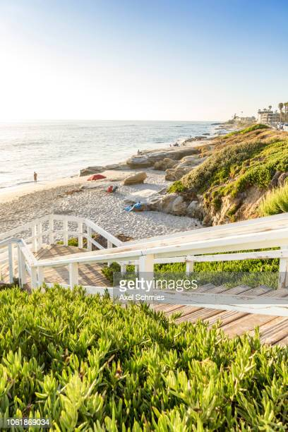 Stairs leading down to La Jolla Beach San Diego