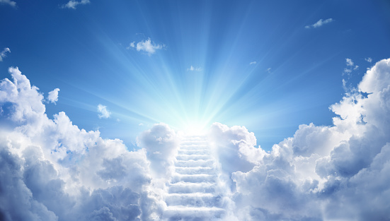 Stairs Leading Up To Heavenly Sky Toward The Light 954305374