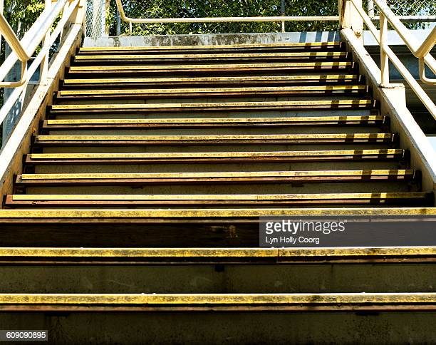 stairs leading upwards to bridge - lyn holly coorg stock pictures, royalty-free photos & images