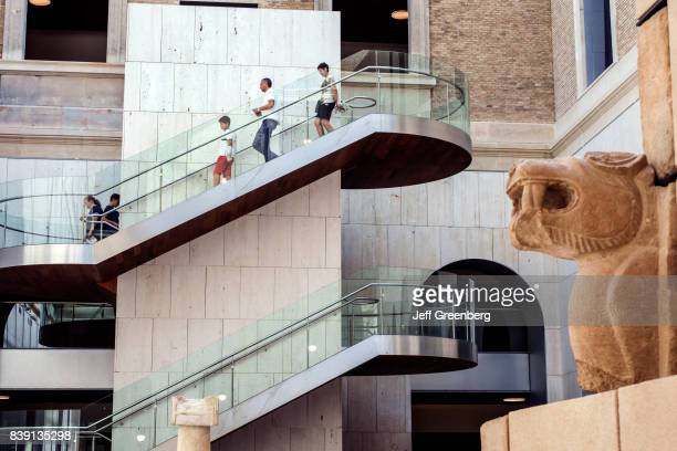 Stairs near the Pozo Moro funeral monument in the National Archaeological Museum in Calle de Serrano