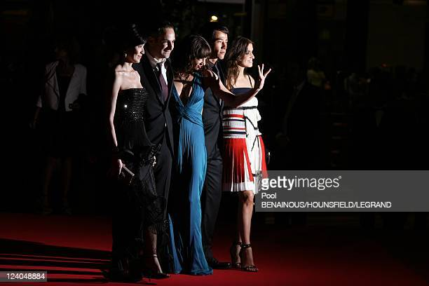Stairs of 'Boarding Gate' at the 60th Cannes International Film Festival France On May 18 2007 Kelly Lin Olivier Assayas Asia Argento Carl Long and...