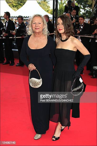 Stairs of 'La Frontiere de l'Aube' at the Cannes film festival 2008 In Cannes, France On May 22, 2008- Agnes B and daughter.