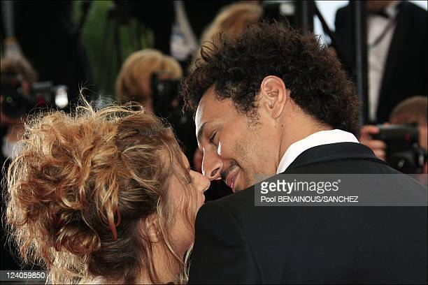 Stairs of 'Le Silence De Lorna' at the Cannes film festival In Cannes France On May 19 2008 Tomer Sisley and fiancee Julie Madar