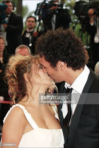 Stairs of 'Le Silence De Lorna' at the Cannes film festival In Cannes France On May 19 2008 Tomer Sisley and fiancee Julie Madar Both are dressed by...