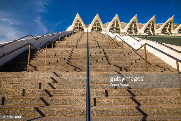 Stairs of the City of Arts and Sciences, Valencia, Spain