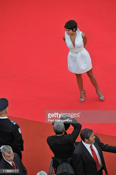 Stairs of 'The Exchange' at Cannes film festival 2008 in Cannes France on May 20 2008Emma De Caunes Emma de caunes is dressed by Alaia