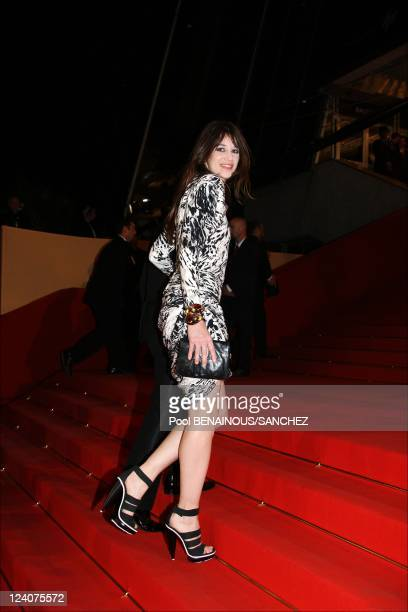 Stairs of the movie 'Antichrist' at the 62nd Cannes Film Festival In Cannes France On May 18 2009 Picture shows Charlotte Gainsbourg