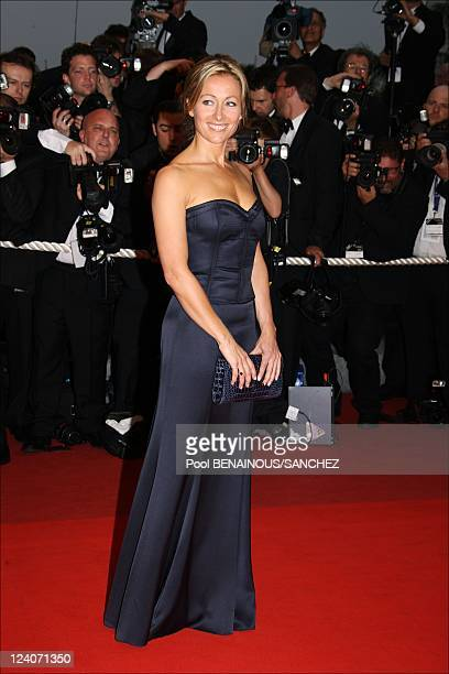 Stairs of the movie 'Bright Star' at the 62nd Cannes Film Festival In Cannes France On May 15 2009 Picture shows AnneSophie Lapix