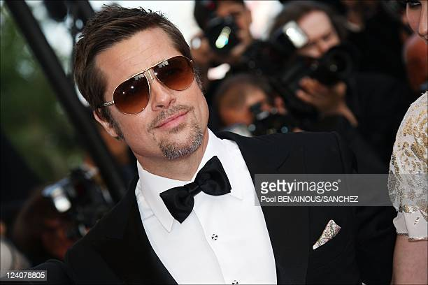 Stairs of the movie 'Inglourious Basterds' at the 62nd Cannes Film Festival In Cannes France On May 20 2009 Picture shows Brad Pitt