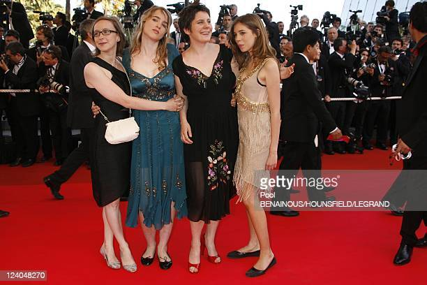Stairs of 'Zodiac' at the 60th Cannes International Film Festival France On May 17 2007 French director Celine Sciamma second from left arrives with...