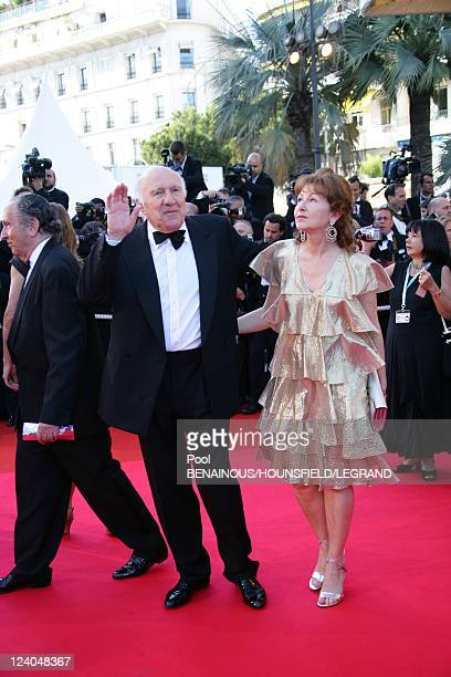 Stairs of 'Zodiac' at the 60th Cannes International Film Festival France On May 17 2007 French actor and jury member Michel Piccoli waves with his...