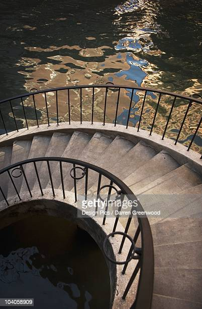 Stairs On A Riverwalk