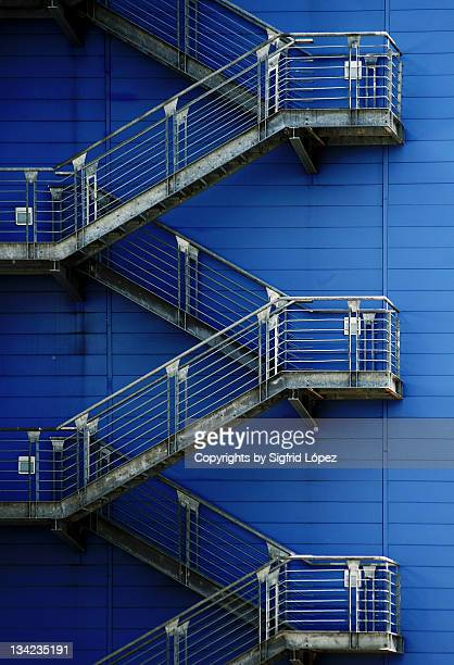 Stairs on blue