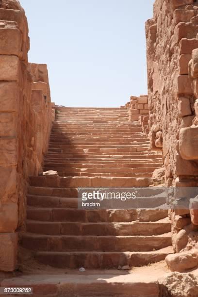 Stairs on path to Petra Monastery