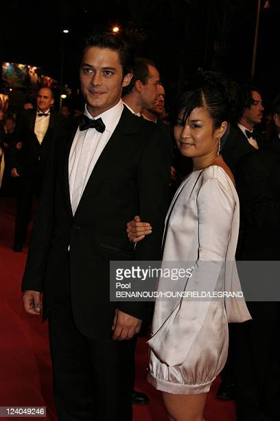 Stairs 'Sicko' at the 60th Cannes International Film Festival in Cannes France on May 19 2007 Aurelien Wick and girlfriend