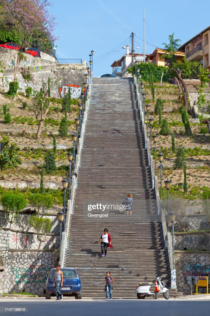 Stairs St. Nicholas in Patras : Stock Photo