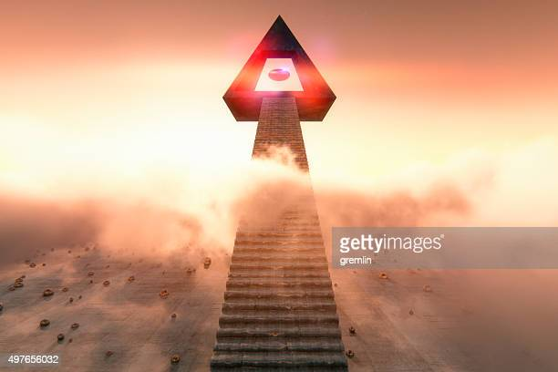 Stairs to the cloud temple