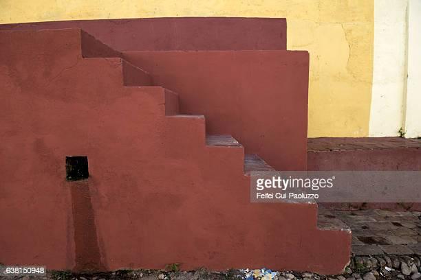 Stairsteps at Trinidad city of Sancti Spíritus Province in Cuba