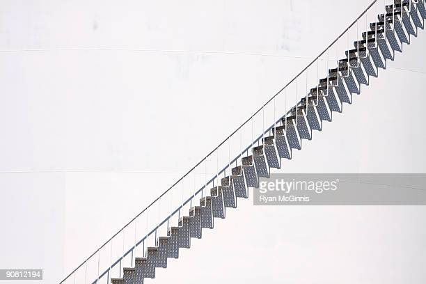 stairway and white background - tall high stock pictures, royalty-free photos & images